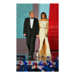 First Couple Donald and Melania Trump Liberty Ball Poster
