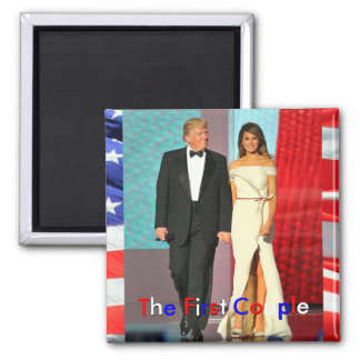 First Couple President Trump First Lady Melania Square Magnet