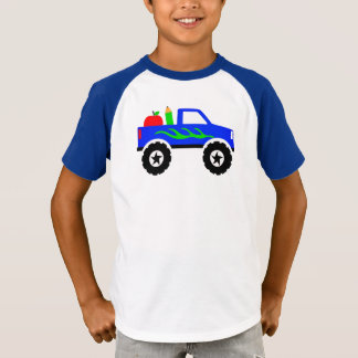 First Day Back to School Monster Truck Raglan T-Shirt