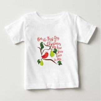 First Day Christmas Baby T-Shirt
