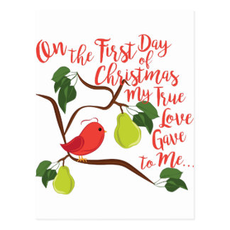 First Day Christmas Postcard