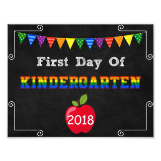 First Day of Kindergarten Editable Sign