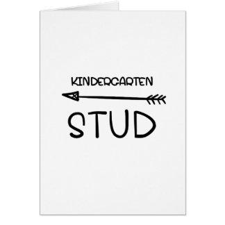 First day Of School 2017  Kindergarten Studs Card