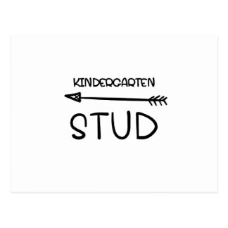 First day Of School 2017  Kindergarten Studs Postcard