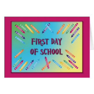 First Day Of School Card