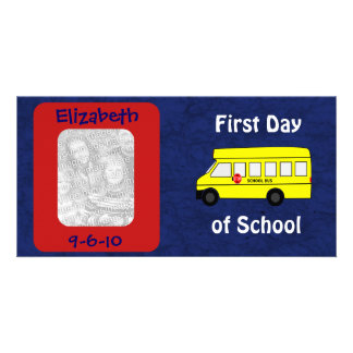 First Day of School Custom Photo and Date Card