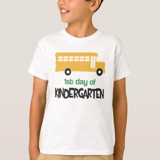 First Day of School Kindergarten School Bus Tshirt