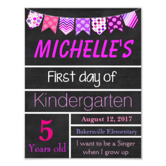 First Day of School Sign, Chalkboard Sign, Poster Photo Art