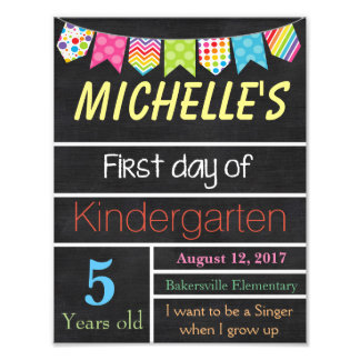 First Day of School Sign, Chalkboard Sign, School Photo Art