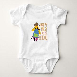 First Day School Baby Bodysuit