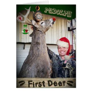 First Deer Christmas Card