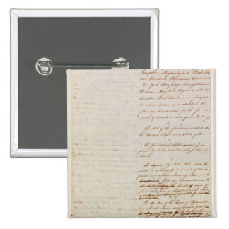 First draft of the Constitution of the U.S. 2 Inch Square Button