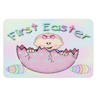 """First Easter Baby Girl Flex Magnets 6""""x4"""""""
