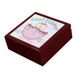 First Easter Baby Girl Gift Box/Trinket Box