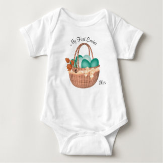 First Easter, Easter Eggs and Basket Baby Bodysuit