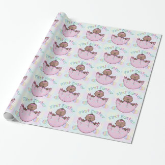 First Easter Ethnic Baby Girl Gift Wrap