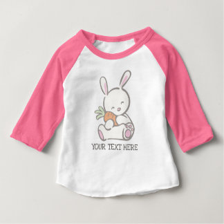 First Easter Pink Baby Bunny for Girls Baby T-Shirt