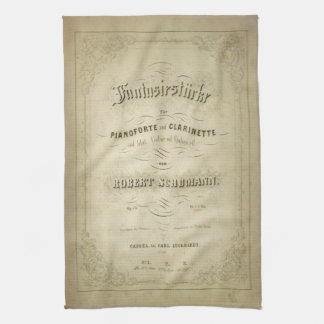 First Edition Vintage Sheet Music Cover Kitchen Towel