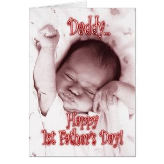 First Father's Day from Daughter - Stretching Girl Card