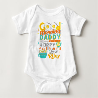 First Fathers day Retro Baby Shirt w Eggs