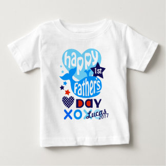 First Fathers Day Shirt Baby Boy Whale Tee
