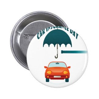 First February - Car Insurance Day 2 Inch Round Button