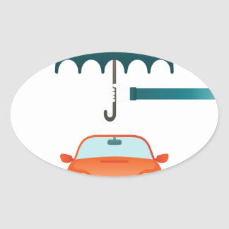 First February - Car Insurance Day Oval Sticker