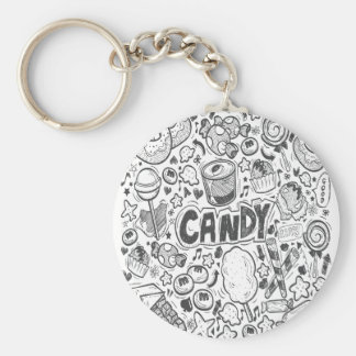 First February - Decorating With Candy Day Keychain