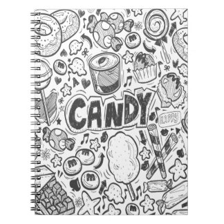 First February - Decorating With Candy Day Spiral Notebook