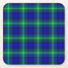 First Fibonacci Plaid Square Paper Coaster