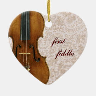 First Fiddle Heart Ornament Pendant