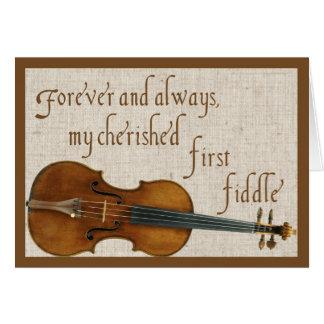 First Fiddle Valentine Card