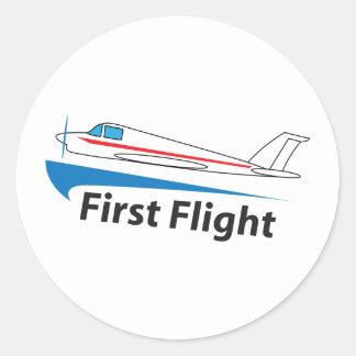 FIRST FLIGHT CLASSIC ROUND STICKER