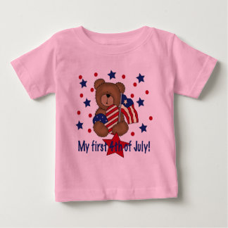First Fourth of July Patriotic Bear Baby T-Shirt