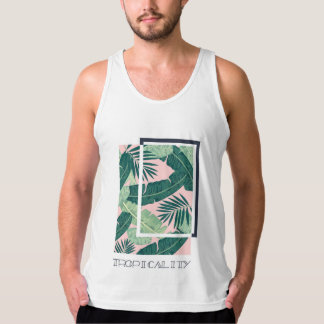 First Generation-Banana Leaf and Palm Print Tank