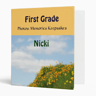 First Grade School Binder Photo Memories Keepsakes