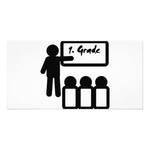 first grade school photo greeting card