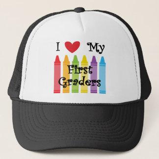 first grade teacher trucker hat