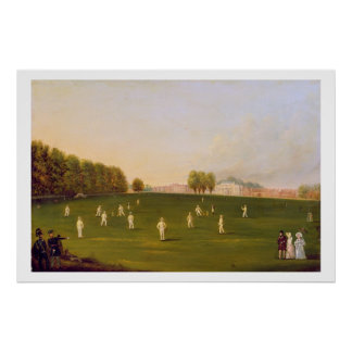 First Grand Match of cricket played by members of Poster