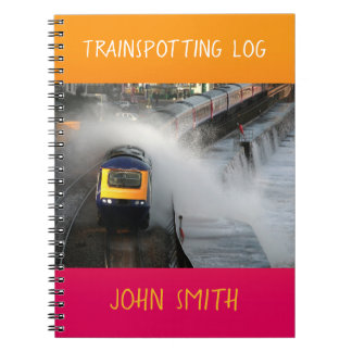 First Great Western train buff log personalised Notebook
