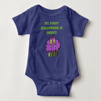First Halloween Outfit with Goblin Cupcake Baby Bodysuit