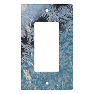 First Hard Frost Nature Abtract Photographic Art Light Switch Cover