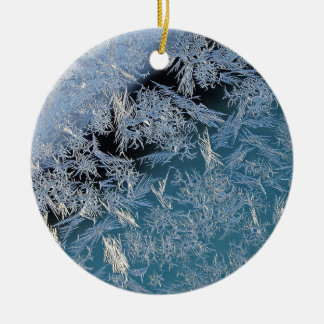 First Hard Frost Photographic Art Ceramic Ornament