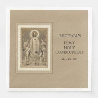 First Holy Communion Catholic Child Jesus Host Paper Dinner Napkin