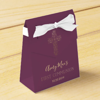 First Holy Communion Favor Box, Girl's Favor Box
