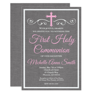 First Holy Communion Invitation, First Communion Card