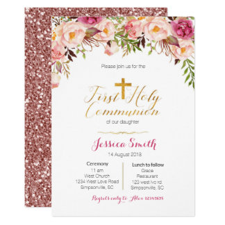 First Holy Communion Invitations Girl