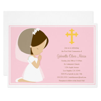 First Holy Communion - Pink | Invitation