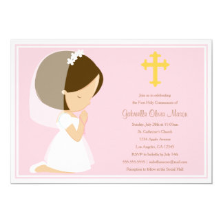 First Holy Communion - Pink   Invitation