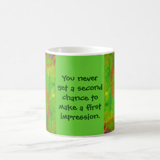 first impression coffee mug
